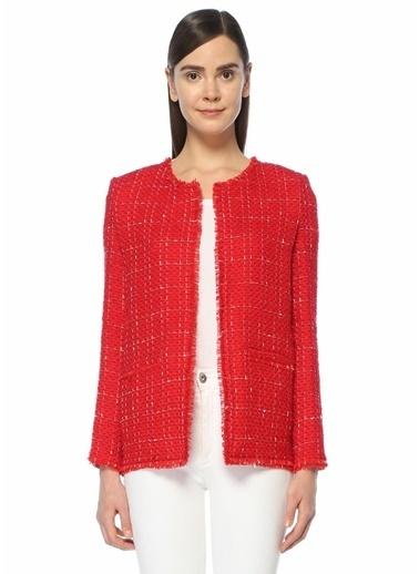 IRO Kareli Triko Ceket Kırmızı
